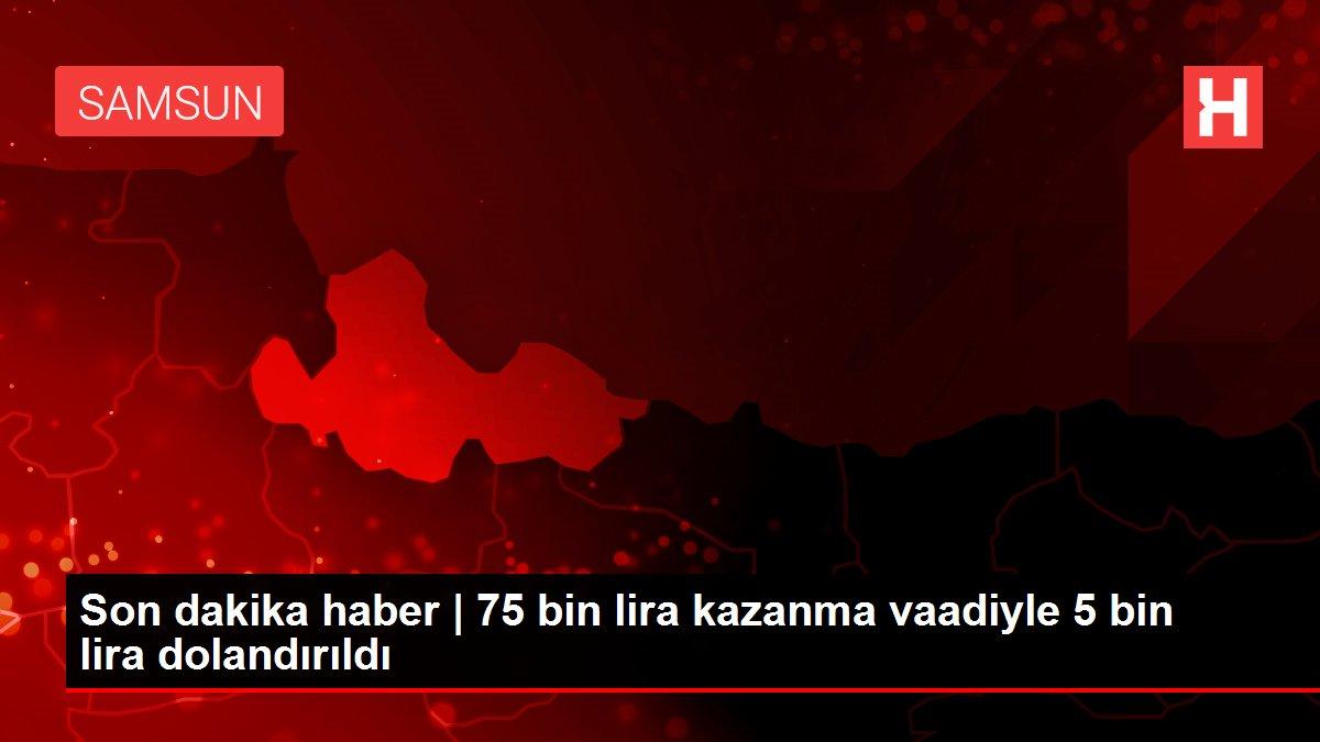 Son dakika haber | 75 bin lira kazanma vaadiyle 5 bin lira dolandırıldı