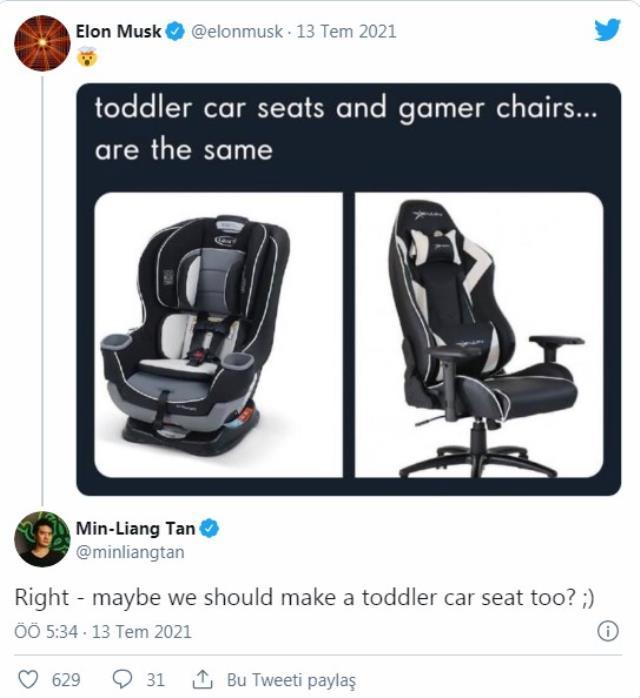 Elon Musk ile Razer CEO'su arasındaki oyuncu koltuğu atışması!