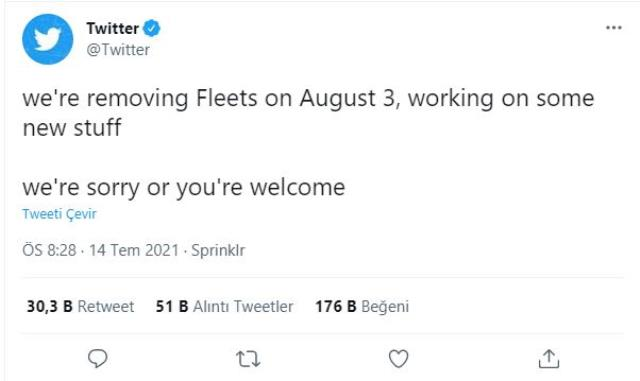 Twitter removes Fleets feature due to lack of usage