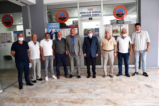 Başkan Vergili'den Türkiye Emekliler Derneği Karabük Şubesine Ziyaret