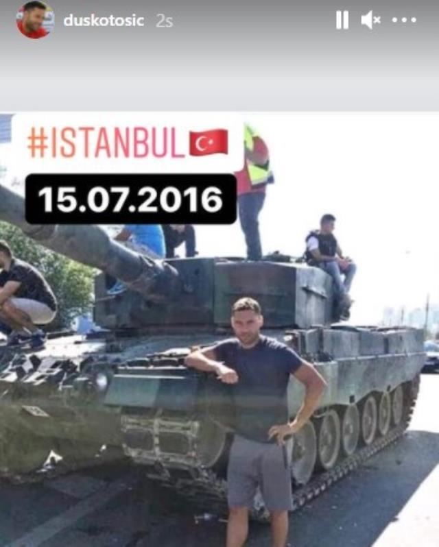 Beşiktaş'ın eski Sırp futbolcusu Dusko Tosic'ten sürpriz 15 Temmuz paylaşımı