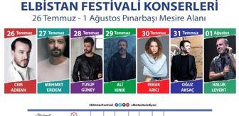 Mehmet Gürbüz: Elbistan Müzik Festivali'ne yıldız yağmuru