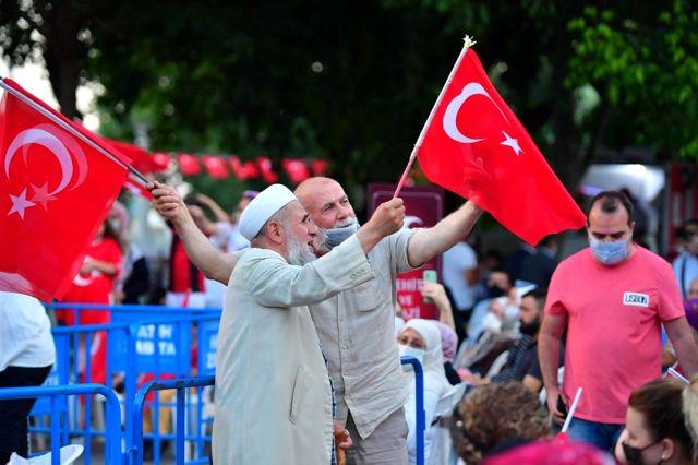 Saraçhane Parkı'nda 15 Temmuz Milli Birlik ve Demokrasi nöbeti