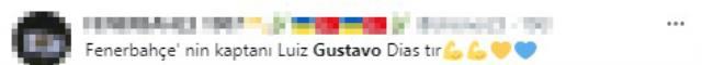 Fenerbahçe taraftarından Luiz Gustavo çılgınlığı! Kaptanlığına seçilmesi için on binlerce paylaşım yapıldı