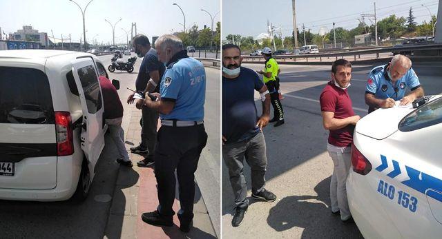 Rahatsızlanan sürücüye ilk müdahaleyi Büyükşehir Zabıta yaptı