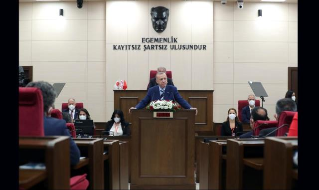 Cumhurbaşkanı Erdoğan: 'Kıbrıs davasının sahibi yavru vatanıyla, anavatanıyla büyük Türk milletinin tamamıdır'