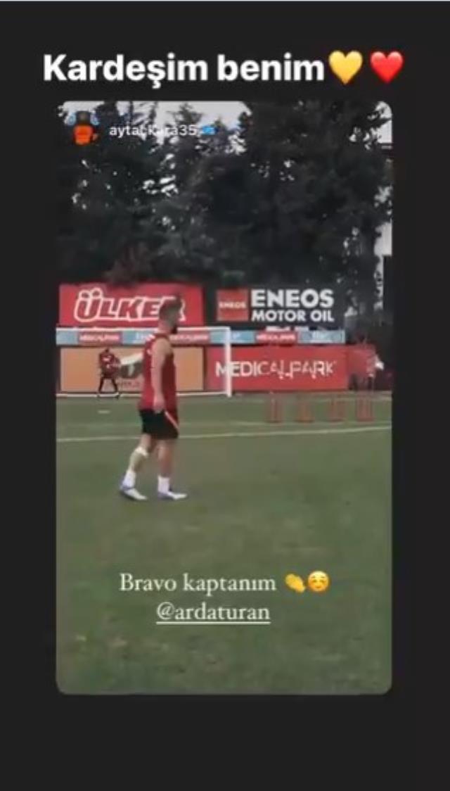 Galatasaray'ın antrenmanda attığı şık frikik golü taraftarı mest etti