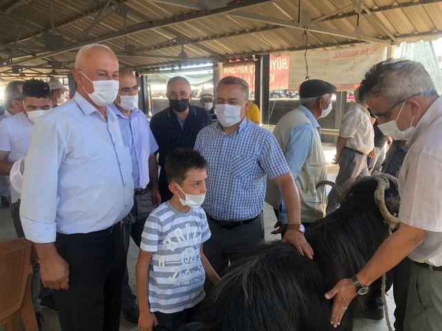 Seydişehir'de canlı hayvan pazarı açıldı