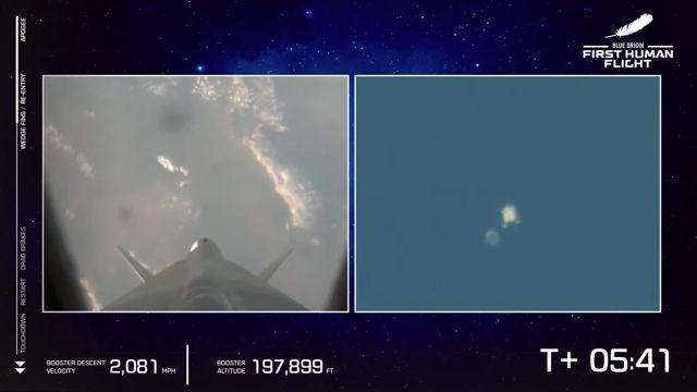 ABD'li milyarder Jeff Bezos ve beraberindeki mürettebatı taşıyan araç uzaya fırlatıldı