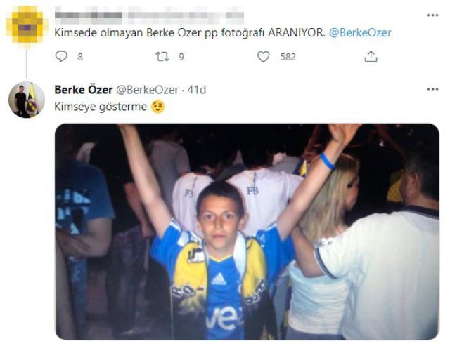 Berke Özer'in taraftara verdiği yanıt Fenerbahçelileri mest etti! Çocukluk fotoğrafına beğeni yağdı
