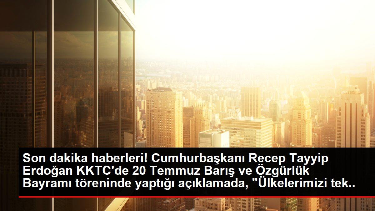 Son dakika haberleri: Cumhurbaşkanı Erdoğan, '20 Temmuz Barış ve Özgürlük Bayramı' töreninde konuştu: (1)