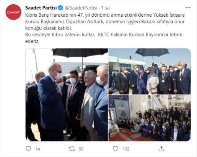 Devlet Bahçeli'nin koluna girdiği Oğuzhan Asiltürk'le ilgili Saadet Partisi'nden dikkat çeken hamle! Resmi hesaptan paylaştılar