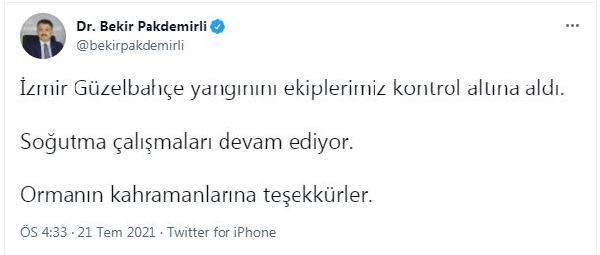 Son dakika: İzmir'de orman yangını (3)