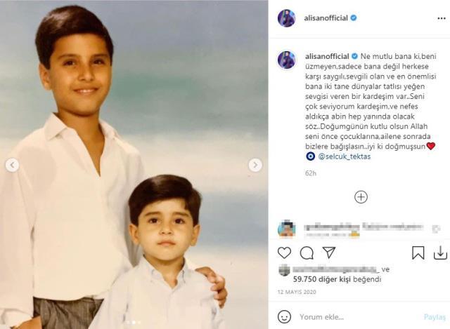 Kardeşi Selçuk Tektaş'ın ölümüyle yıkılan Alişan'dan ilk paylaşım: Canımın yarısını hakka uğurladık