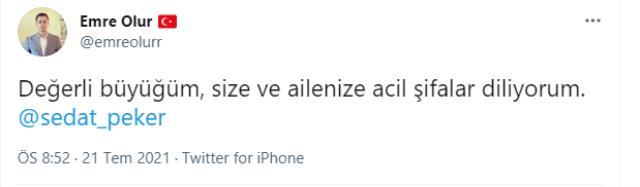 Sedat Peker'in koronavirüse yakalandığı iddia edildi, en yakındaki isimden paylaşım geldi