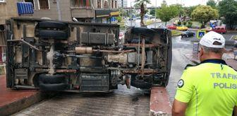 İsmail Aydın: Samsun'da kamyonet devrildi: 1 yaralı