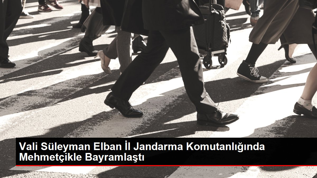 Vali Süleyman Elban İl Jandarma Komutanlığında Mehmetçikle Bayramlaştı