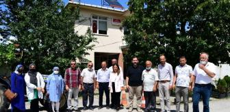 Evci: AK Partililer, köylerde vatandaşlarla bayramlaştı