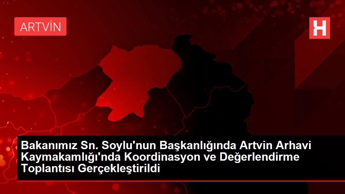 Bakanımız Sn. Soylu'nun Başkanlığında Rize Ardeşen Belediyesi'nde Koordinasyon ve Değerlendirme Toplantısı Gerçekleştirildi