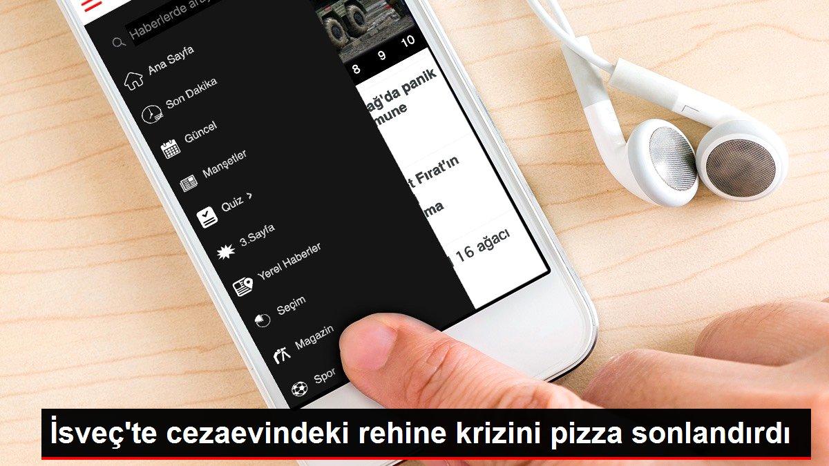 İsveç'te cezaevindeki rehine krizini pizza sonlandırdı