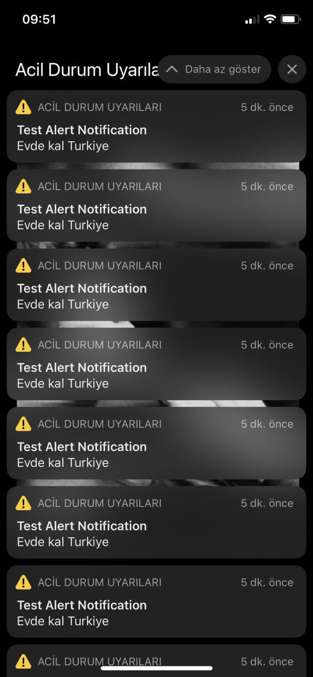 Türkiye'deki iPhone kullanıcıları 'Evde kal' bildirimiyle Acil Durum Uyarısı aldı