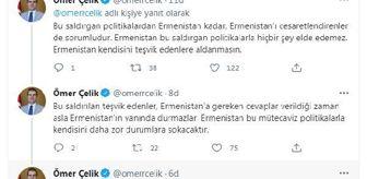 Azerbaycan: AK Parti'li Ömer Çelik: 'Ermenistan kendisini teşvik edenlere aldanmasın'