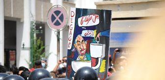 Protesto: Son dakika haber: Tunus'ta hükümet karşıtı protesto