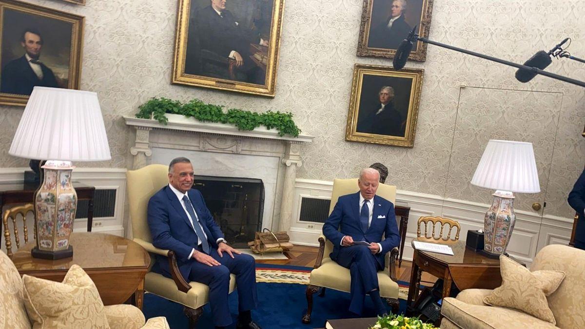 ABD'nin Irak'taki muharebe misyonu yıl sonuna kadar sona erecekABD Başkanı Biden, Irak Başbakanı el-Kazımi ile bir araya geldi