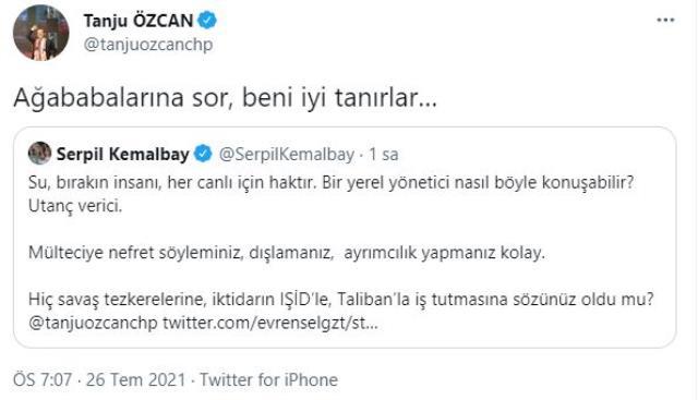 Tanju Özcan ve HDP'li Serpil Kemalbay arasındaki mülteci gerginliği: Beni ağababalarına sor