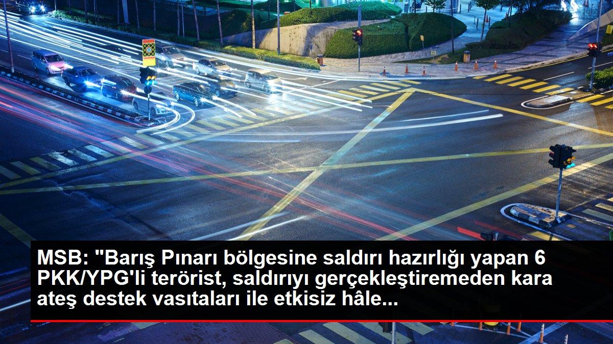 Barış Pınarı bölgesinde 6 PKK/YPG'li terörist etkisiz hale getirildi