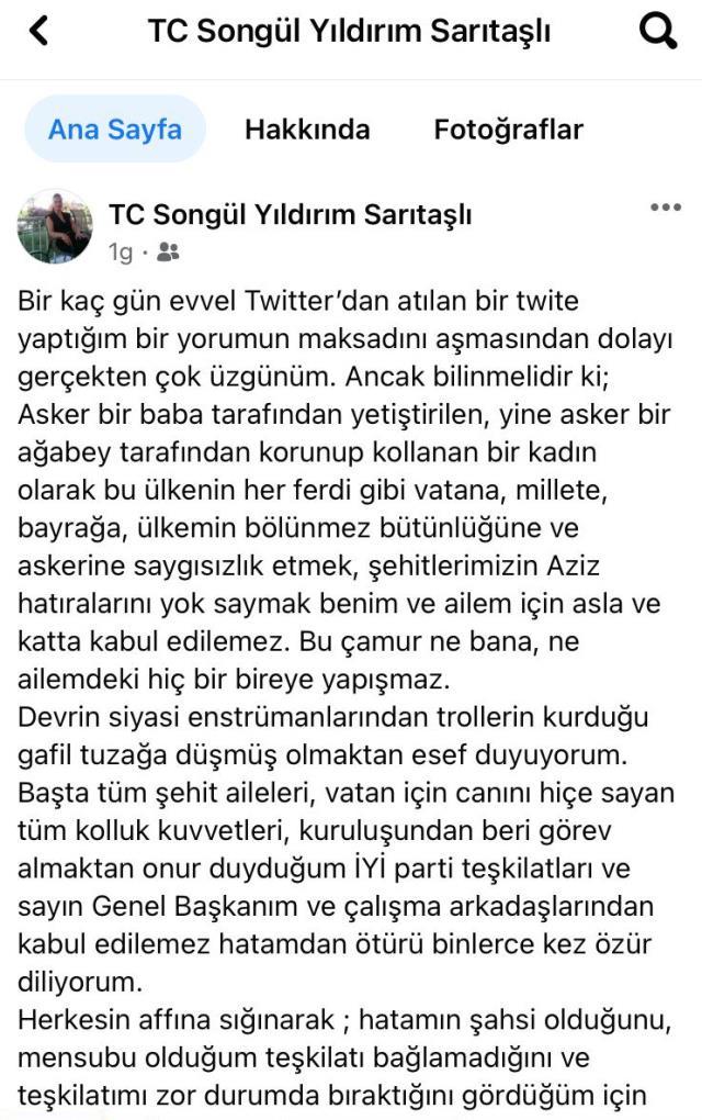 Ömer Halisdemir'e 'darbeci' diyen İYİ Partili yönetici Songül Sarıtaşlı istifa etti,