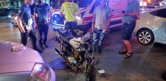 Vatan: Otomobille çarpışan motosikletin sürücüsü yaralandı
