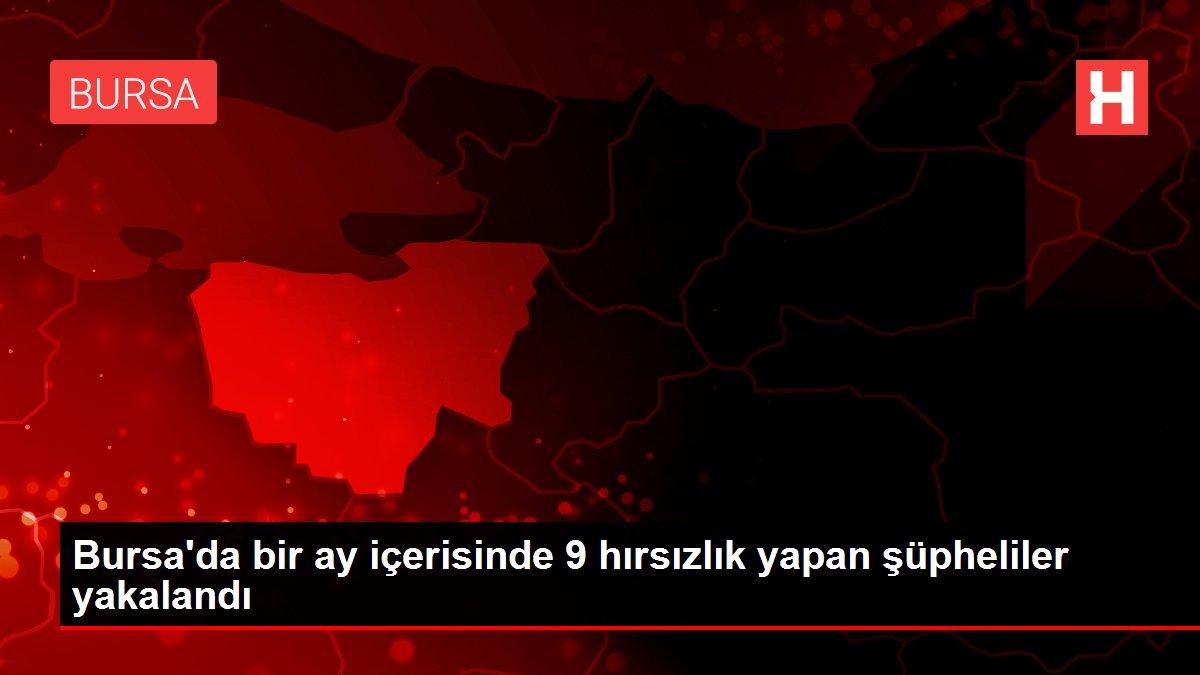 Bursa'da bir ay içerisinde 9 hırsızlık yapan şüpheliler yakalandı