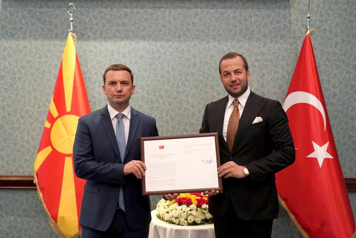 İş insanı Eser Cevahir'e Kuzey Makedonya Fahri Konsolosluğu beratı verildi