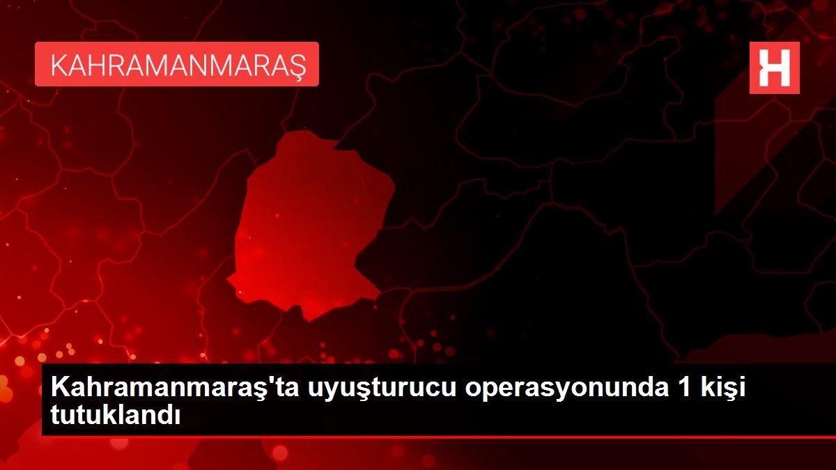 Kahramanmaraş'ta uyuşturucu operasyonunda 1 kişi tutuklandı