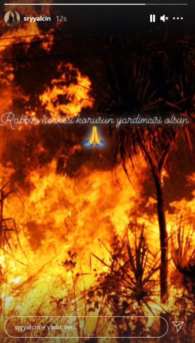 Bodrum'da yanan ormanın dumanına aldırış etmeden pozlar veren Süreyya Yalçın, tepki çeken paylaşımı sildi