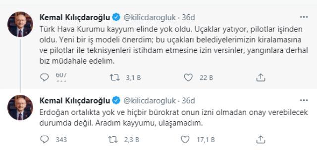 Kılıçdaroğlu'ndan yangınla mücadele için yeni model önerisi: THK uçaklarını biz kiralayalım, pilotları istihdam edelim
