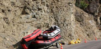 Tunceli Devlet Hastanesi: Römorka bağlı rafting botu devrildi: 2'si ağır, 4 yaralı