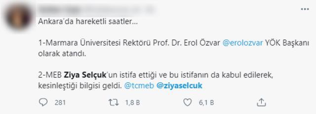 Sosyal medyayı karıştıran iddia: Milli Eğitim Bakanı Ziya Selçuk istifa mı etti?