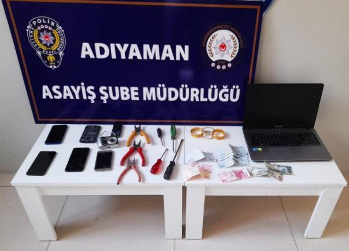 Adıyaman'da hırsızlık şüphelisi 3 kişi tutuklandı