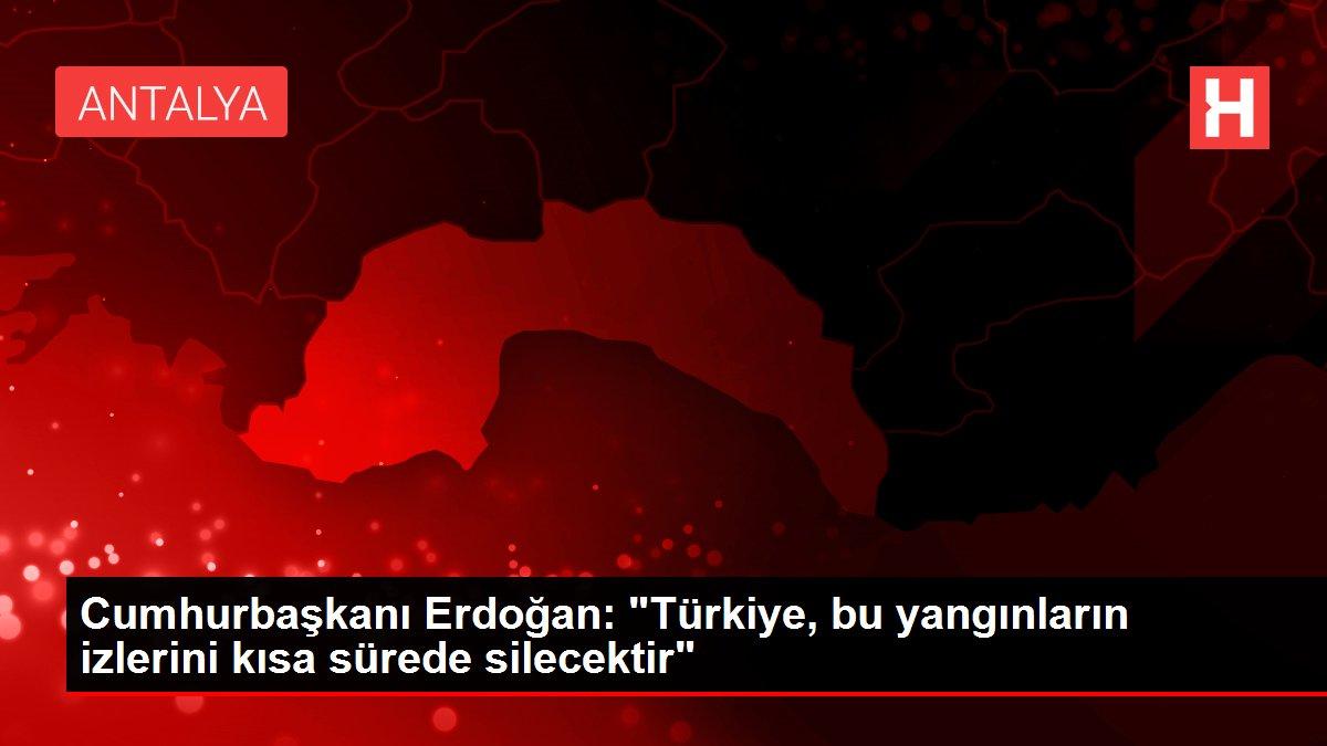 """Cumhurbaşkanı Erdoğan: """"Türkiye, bu yangınların izlerini kısa sürede silecektir"""""""