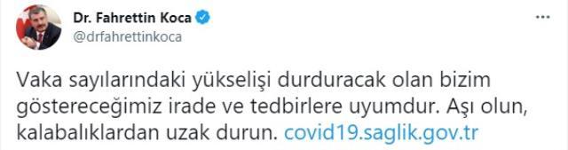 Son Dakika: Türkiye'de 1 Ağustos günü koronavirüs nedeniyle 96 kişi vefat etti, 20 bin 890 yeni vaka tespit edildi