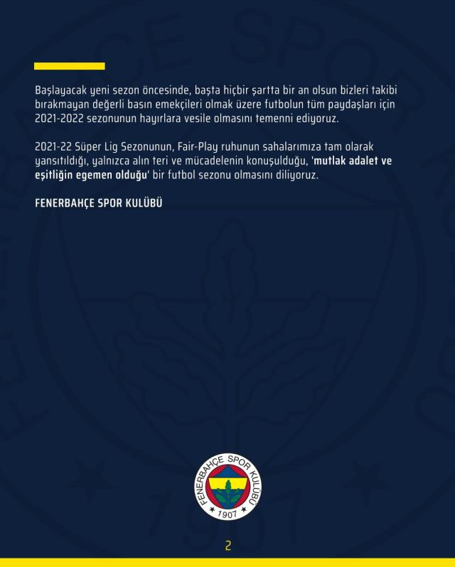 Fenerbahçe'den net karar: Armamızda artık yıldız kullanmayacağız