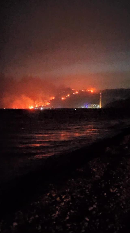 Milas'ta termik santral yakınlarına ulaşan yangın nedeniyle bölge boşaltılıyor