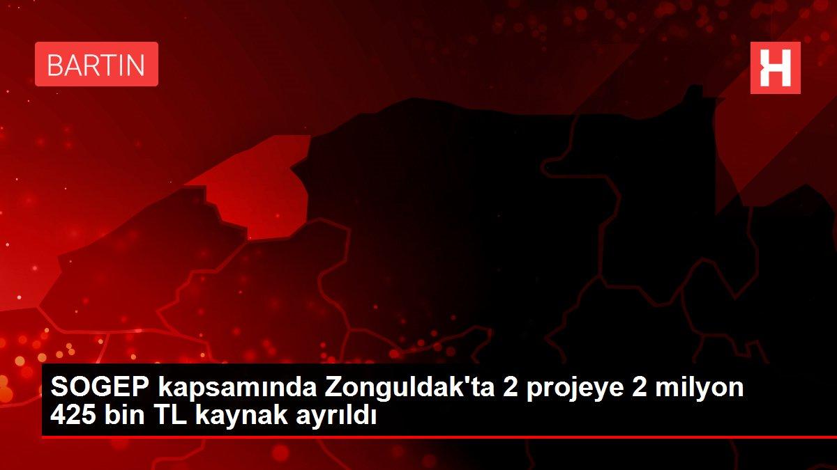 SOGEP kapsamında Zonguldak'ta 2 projeye 2 milyon 425 bin TL kaynak ayrıldı