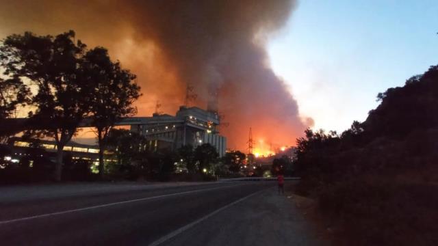 Son Dakika: Milas'taki yangınlarda alevle termik santrale sıçradı, bölgeden patlama sesleri geliyor