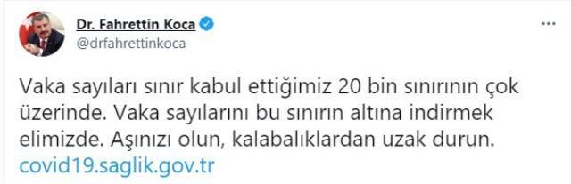 Son Dakika: Türkiye'de 4 Ağustos günü koronavirüs nedeniyle 122 kişi vefat etti, 26 bin 822 yeni vaka tespit edildi