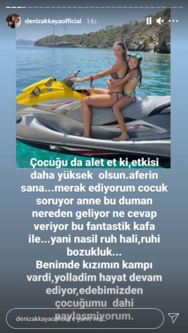 Deniz Akkaya, yangınların devam ettiği Bodrum'da jet ski üzerinde poz veren Şeyma Subaşı'ya sitem etti