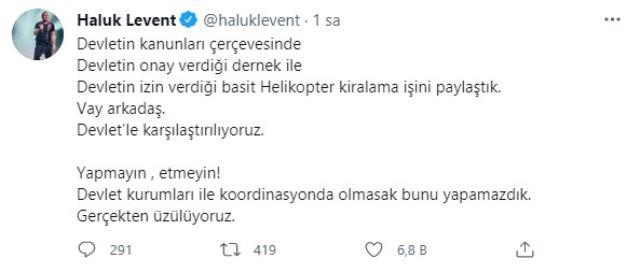Şarkıcı Haluk Levent, yangınların söndürülmesi için derneğiyle helikopter kiralıyor