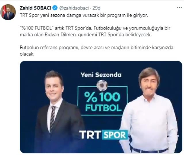 Rıdvan Dilmen, ekranlara TRT Spor ile geri dönüyor